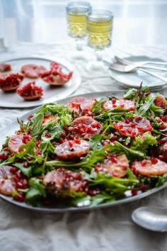 i m so fond of salads and color on this blood orange salad can make a salad so interesting...