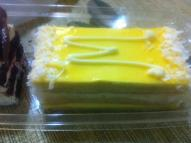Mango mouse cake from champagne bakery