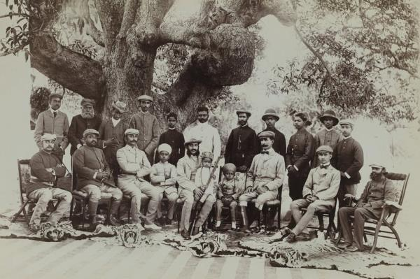 Raja Deen Dayal (1844-1905) was a legendary Indian photographer. In 1894, he was appointed court photographer to the royal family of Hyderabad.