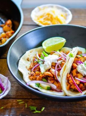 Leftover Turkey Chipotle Potato Hash Tacos Recipe - ChefDeHome.com