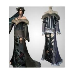 Final Fantasy X Lulu Deluxe Cosplay Costume--CosplayDeal.com