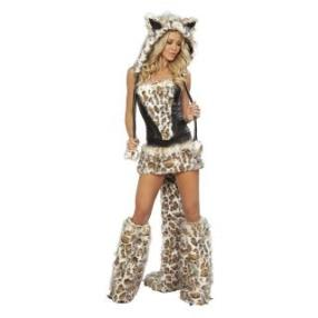 High Quality Hot Sexy Leopard Adult Women Christmas Costume