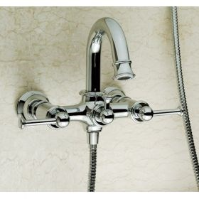 Contemporary Two Handle Mixer Taps Shower and Bathtub Faucet--Faucetsuperseal.com
