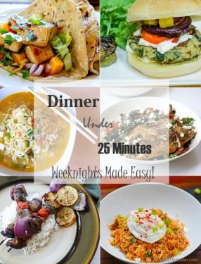 Weeknight Dinners in 25 Minutes or Less Meals - ChefDeHome.com