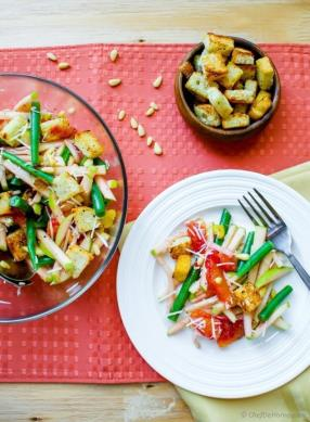 Green Beans Salad with Apples and Orange Dressing Recipe - ChefDeHome.com