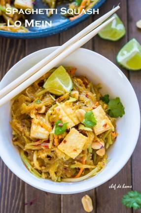 Spaghetti Squash Lo Mein Recipe -ChefDeHome.com