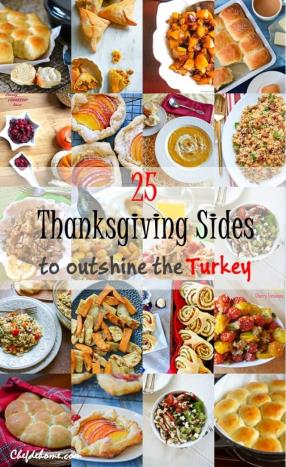 25 Thanksgiving Sides to Outshine the Turkey and 15 days to Thanksgiving Event Meals - ChefDeHome.com