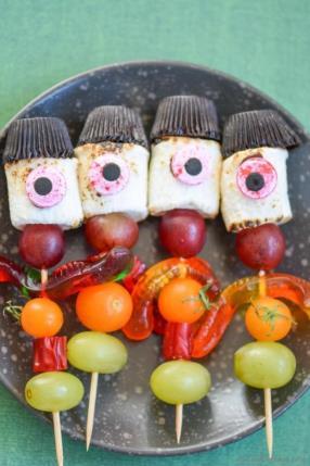Creepy Stick-Men Marshmallow Candy Kabobs Recipe - ChefDeHome.com