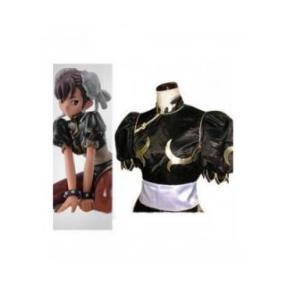 Street Fighter Chun Li Black Fighting Game Cosplay Costume--CosplayDeal.com