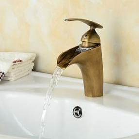 Fashionable Antique Waterfall Bathroom Sink Faucet--Faucetsdeal.com