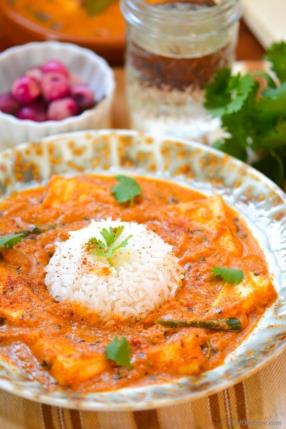 Indian Paneer Butter Masala with Pickled Pearl Onions Recipe - ChefDeHome.com
