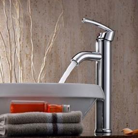 Elegant Brass Bathroom Faucet - Chrome Finish--Faucetsmall.com
