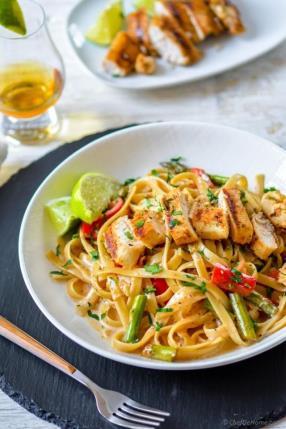 Chicken Tequila Fettuccine Recipe -ChefDeHome.com