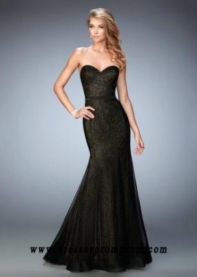 2016 Black Stunning Strapless Mermaid Evening Gown for Sale