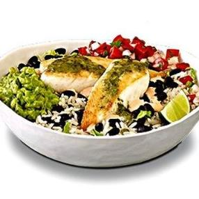 This restaurants special grilled sea bass bowl was so yummy, healthy, and dairy free