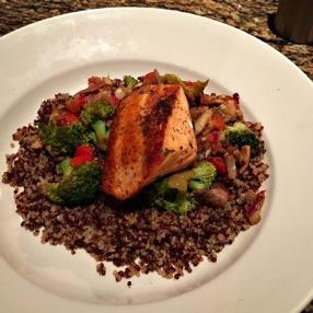 I love this BJs Roasted Salmon Quinoa Bowl is so healthy weight watcher friendly and dairy free