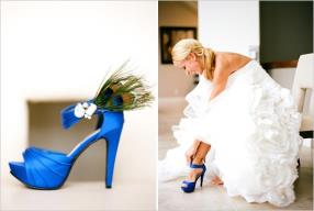 A touch of color, a modern pair of shoes for brides