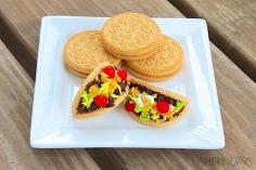 Taco cookies by sheknows.com look so good and you can hardly guess if these are cookies or meaty tacos...