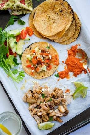 Cilantro Lime Chicken Tacos Recipe -ChefDeHome.com