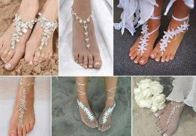 Beach wedding barefoot sandals! - from Different Solutions. Beautiful....