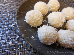 Just four ingredients and a simple recipe and you can make these so addictive coconut treats.