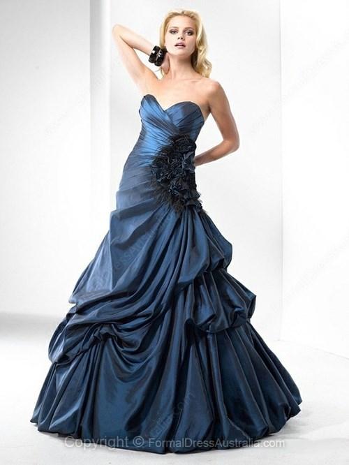 A line Taffeta Sweetheart Formal Dresses