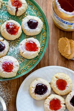 Peanut Butter and Jelly Thumbprint Cookies Recipe - ChefDeHome.com