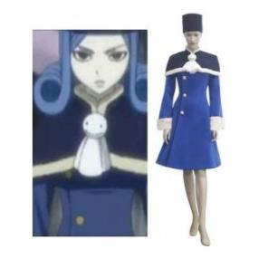 Fairy Tail Juvia Loxar Blue Cosplay Costume