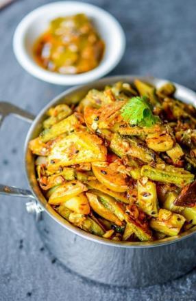 Achari Aloo Karela Recipe- ChefDeHome.com