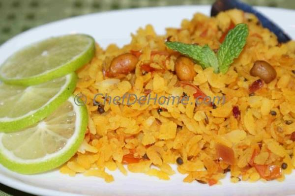 Keep munching Rice Flakes Pilaf ( or Poha Snack)