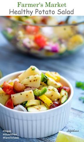 Farmer Market Healthy Potato Salad with Mustard Dressing Recipe - ChefDeHome.com