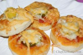 Pizza Sauce and Jalapeno Pizza Bites for - Kids Snack for Halloween
