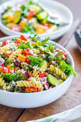 Deli Style Pasta Salad with Kale Recipe -ChefDeHome.com