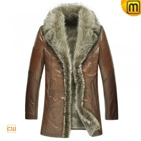 Mens Shearling Sheepskin Coat CW868565