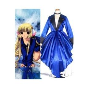 Chobits Chii Blue Dress Cosplay Costume--CosplayDeal.com
