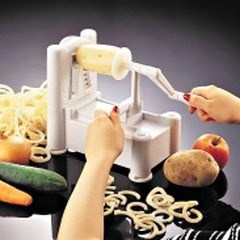 I used this easy to use slicer to create great spiral shape zucchini noodles that are so delicious and very healthy