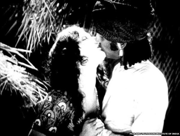 The first kiss in an Indian film was in 1929 when Seeta Devi and Charu Roy locked lips in the silent film, Throw of Dice.