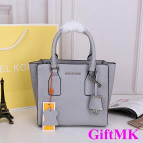 Gray Michael Kors Handbags Socialite Aristocracy 2016 Hot Sale