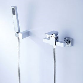 Contemporary Tub Shower Faucet with Hand Shower--Faucetsuperseal.com