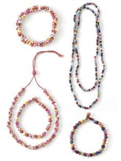Fabric bead jewelry