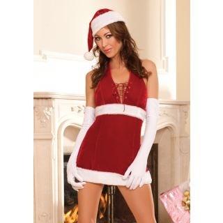 Elf Red Lovely Adult Women Christmas Costume