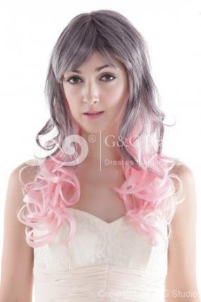 High-temperature Resistance Fibre Fashion Average Daily Wear Wigs - love the color.