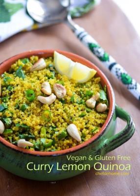 Curry Lemon Quinoa (Rice) Recipe -ChefDeHome.com