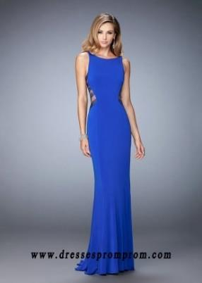 Buy Royal Blue Edgy Racerback Illusion Cut Outs Prom Gown
