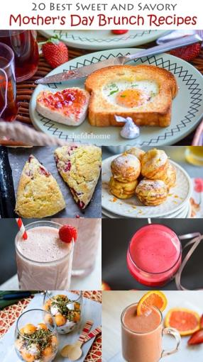 Sweet and Savory Mother's Day Brunch Recipes Meals - ChefDeHome.com