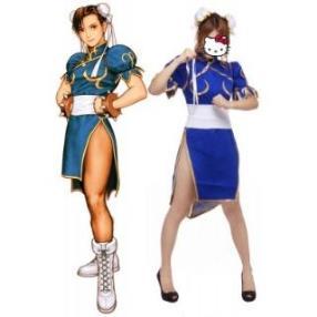 Street Fighter Chun Li Adult Fighting Game Cosplay Costume--CosplayDeal.com