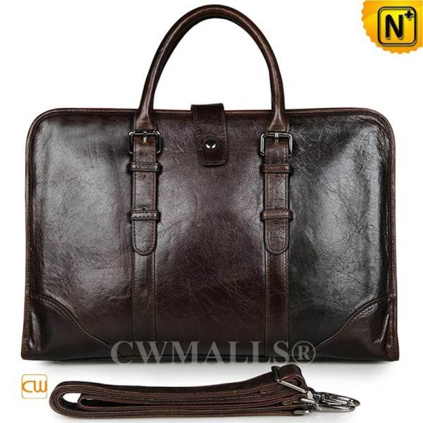 CWMALLS Vintage Brown Leather Briefcase CW907129