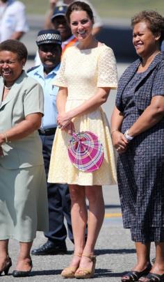 Kate Middleton in yellow dress