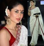 Kareena Kapoor wearing white and red dress
