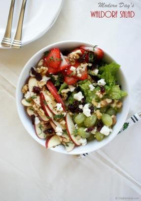 Healthy Waldorf Salad with Lite Dressing Recipe - ChefDeHome.com